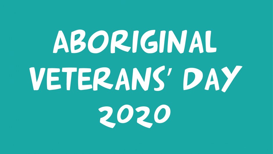 Aboriginal Veterans' Day 2020